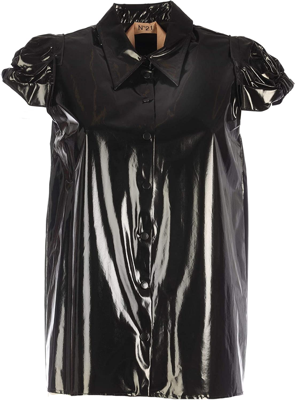 N°21 Women's G05359089000 Black Polyurethane Shirt