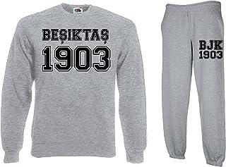 TRVPPY Herren 2er Set Pullover  Jogginghose Modell Besiktas Istanbul/in versch. Farben/Trainingsanzug Jogginganzug