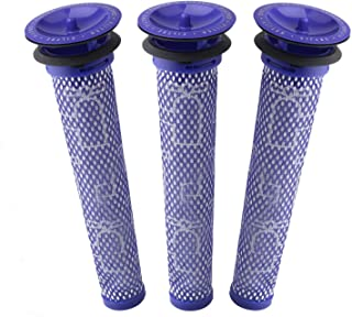 3 Pack Pre Filters for Dyson DC58, DC59, V6, V7, V8. Replacements Part # 965661-01. 3 Filters Kit for Dyson Filter Replace...