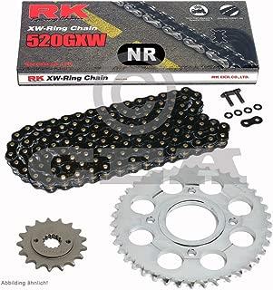 Kettensatz geeignet f/ür Honda NX 125 89-90 Kette RK 428 H 128 offen 16//47