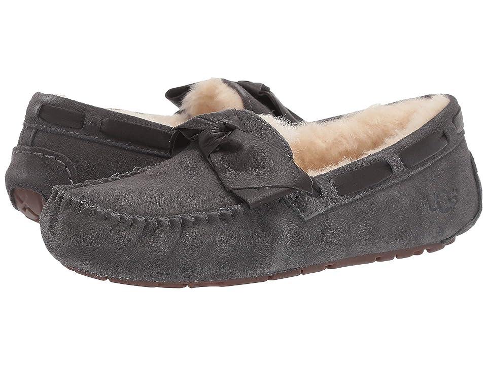 UGG Dakota Leather Bow (Charcoal) Women