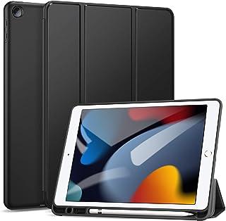 جراب Wibrilant لجهاز iPad الجديد من الجيل التاسع - الثامن - السابع مع حامل أقلام رصاص ، واقي رفيع وخفيف الوزن ، وغطاء TPU ...