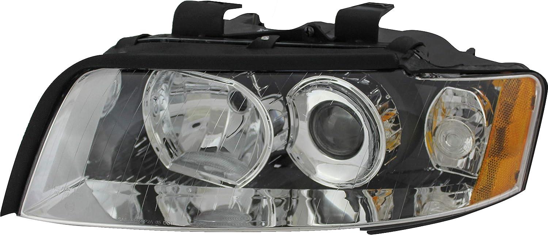 For Audi 期間限定今なら送料無料 A4 S4 Gen2 正規品送料無料 Headlight 2005 Driver Left 2002 2004 2003