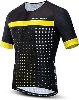 Road Cycling Jersey Men, Men's Racing Bike Shirt S-3XL 4-Pockets Lycra+Polyester