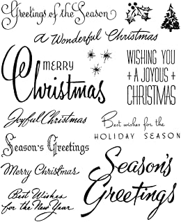 Tim Holtz Stampers Anonymous Holidays 2020 Bold Tidings 4 Cling Stamp Set CMS421