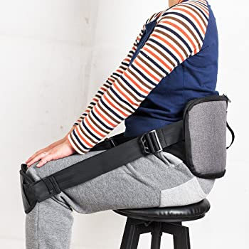 Back Support belt for better back whole day Back Pain Relief -Posture Correcting Harness & Relieve Sciatica, Keeps Back Straight While Seated, Suitable in Office or At Home or Outdoors (silver-gray)