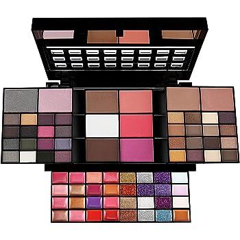 JasCherry Paleta de Sombras de Ojos 74 Colores de Estuche de Maquillaje Set Kit de alta Calidad Cosmético - Incluye Corrector Camuflaje y Bronzer Polvos Compactos y Rubor y Brillo Labios #3: