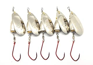 Prime Lures Blue Fox Style Fishing Spinners. Two Sizes #3, 4 5 Pack. Strong Hooks, Great Value.