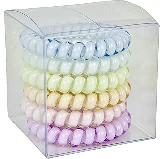 SHUGOS - Spiral Hair Ties (6 Pack) Pastel Palette