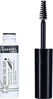 Rimmel London Brow This Way Eyebrow Gel with Argan Oil - Clear, Orange