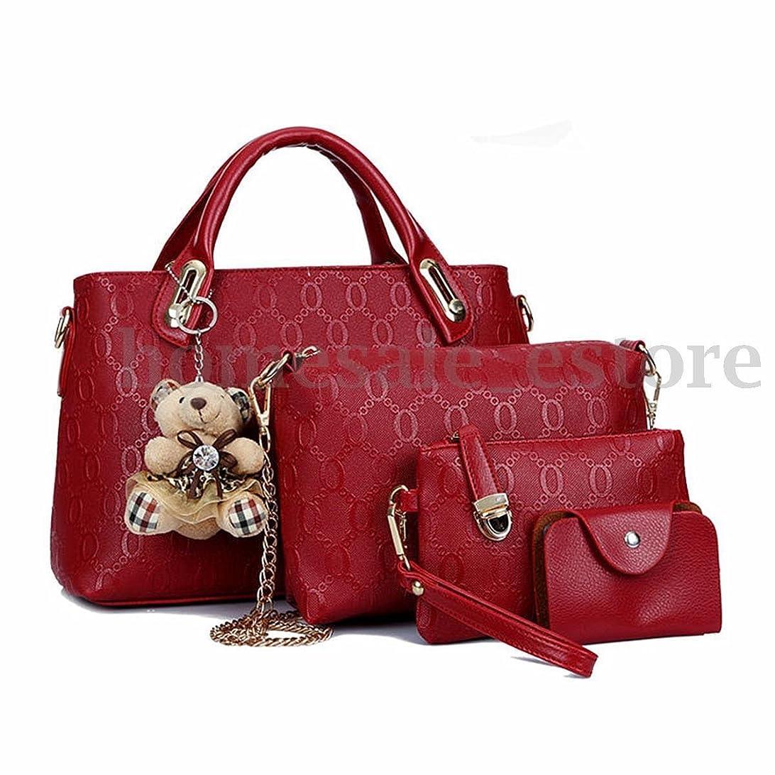 ゾーンゼロ病んでいるシューズ&バッグ/ バッグ?スーツケース / レディースバッグ?財布 / バッグ /ショルダーバッグ/ 4PCS/Set Women Lady Leather Shoulder Bag Handbag Tote Satchel Clutch Coin Purse