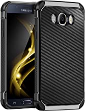Galaxy J7 2016 Case, Galaxy J7 J710 Case, BENTOBEN 2 In 1 Drop Protection Anti-scratch Hybrid PC Laminated with Carbon Fiber Texture Shockproof Protective Case for Samsung Galaxy J7 J710 (2016), Black