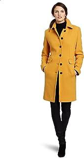 Women's Mid-Length Single Breasted Wool Coat