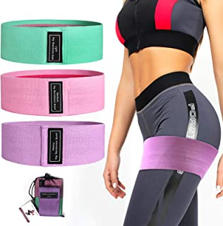 NOSUBO Resistance Bands for Legs and Butt Non Slip Elastic Booty Bands for Working Out Women/Men Fabric Exercise Hip Band ...