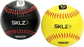SKLZ Weighted Baseballs 2-Pack (Yellow 10 oz, Black 12 oz)