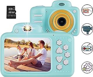 Vannico Camara de Fotos para Niños Camara para Niños Video Cámara Infantil 8MP 1080P HD 16GB Tarjeta de Memoria Incluida (Azul)