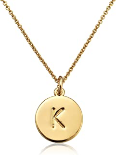 kate spade new york Gold-Tone Alphabet Pendant Necklace, 18