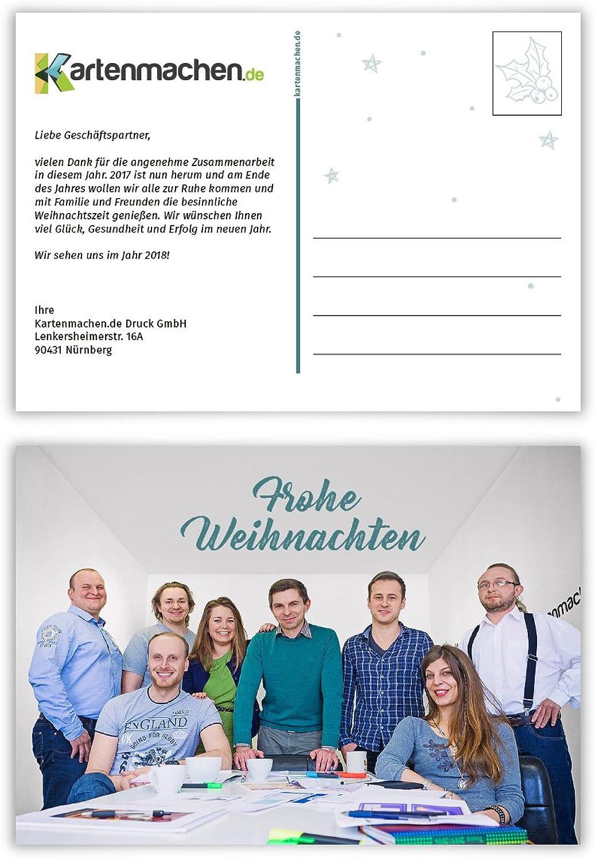 60 x Weihnachtskarten Firmen Geschäftlich Business Grußkarten Weihnachten - Foto Postkarte B075ZHH4VB | Charmantes Design