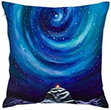 ANGEL P Stars Throw Pillow Cover, Daily Decorative Throw Pillow Case Cushion Cover Sofa Bed Car Indoor Outdoor Home Decor 18x18 Inch 45x45 cm
