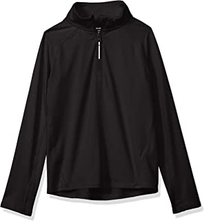 Amazon Essentials - Chaqueta deportiva con media cremallera para niña