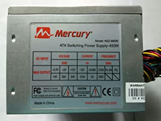 MERCURY 450watts ATX power supply unit with free power cable