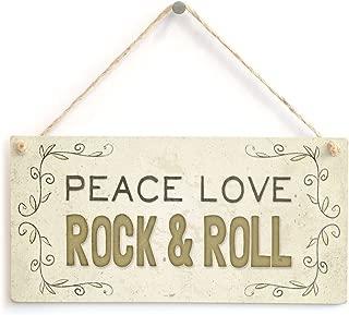 Meijiafei Peace Love Rock & Roll - Beautiful Home Accessory Gift Sign 10