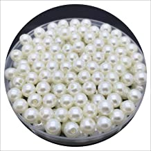 4 6 8 10mm Imitation Pearls Acrylic Round Pearl Spacer Loose Beads DIY Jewelry Making Necklace Bracelet Earrings Accessories,Ivory,8mm 50pcs