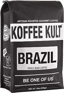 Koffee Kult Brazil Whole Bean Coffee Artisan Roasted (16oz Whole Bean)