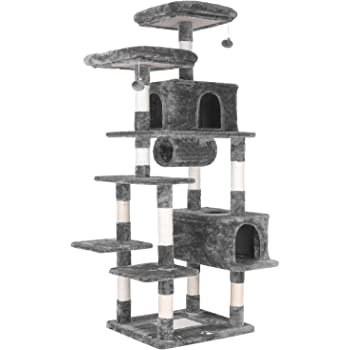 "LAZY BUDDY 80"" Multi-Level Cat Tree XXL Tall Play House Climber Activity Center Tower Stand Furniture, W/Scratching Post,Jingling Ball,Condo,Tunnel and Anti-Dump Device for Kitten, Large Cat,Pet"