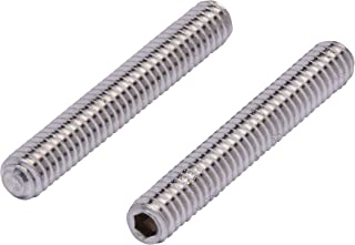 """1/4""""-20 X 1-3/4"""" Stainless Set Screw with Hex Allen Head Drive and Oval Point (25 pc), 18-8 (304) Stainless Steel Screws by Bolt Dropper"""