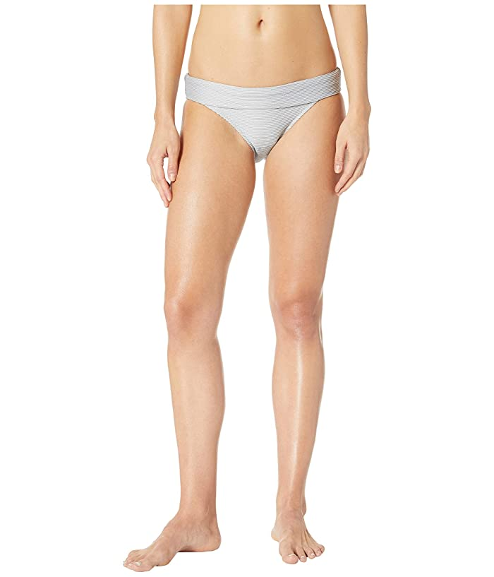 Heidi Klein Helskini Fold-Over Bottoms (Silk Silver) Women