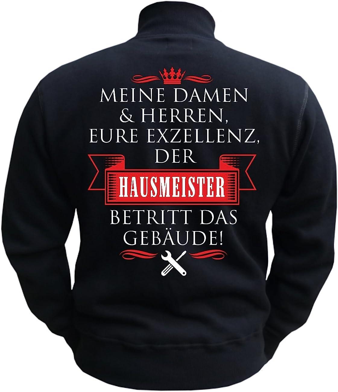 Spa/ß kostet M/änner und Herren Freizeitjacke Eure Exzellenz DER Hausmeister mit R/ückendruck