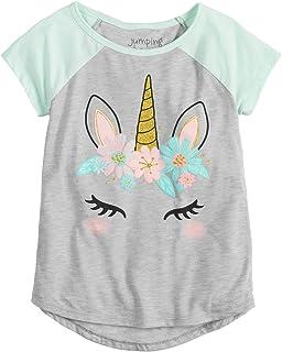 Jumping Beans Little Girls' 4-12 Pretty Unicorn Tee