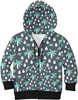 Rainbow Rules Cute Kawaii Palm Trees Kids Zip Up Hoodie Unisex