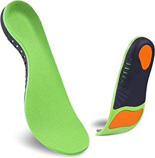 Arch Support Shoe Insole,Super Support Foot Pain Relief and Orthotics Feet Insoles,Deep U-Shaped Heel for Man Women Shoe Inserts with Best Absorbing Relieve