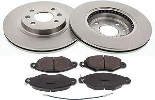 Set de 2 Ate 24.0128-0154.1 Rotores de Discos de Frenos