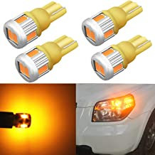 Alla Lighting 4x 194 LED Bulb Super Bright 175 168 2825 W5W T10 Wedge 5630 SMD Lights Replacement for Side Marker Interior...