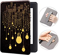 Handle Case for All-New Kindle Paperwhite (10th Generation-2018 Only - Will Not fit Prior Generation Kindle Devices), PU Leather Smart Cover with Hand Strap, Auto Wake/Sleep (City Light)