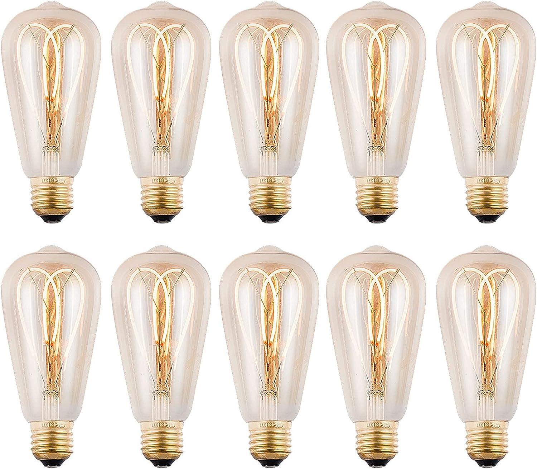 Adlereyire Vintage Edison Latest item Light Bulbs E27 Ranking TOP5 LED Filame Flicker No