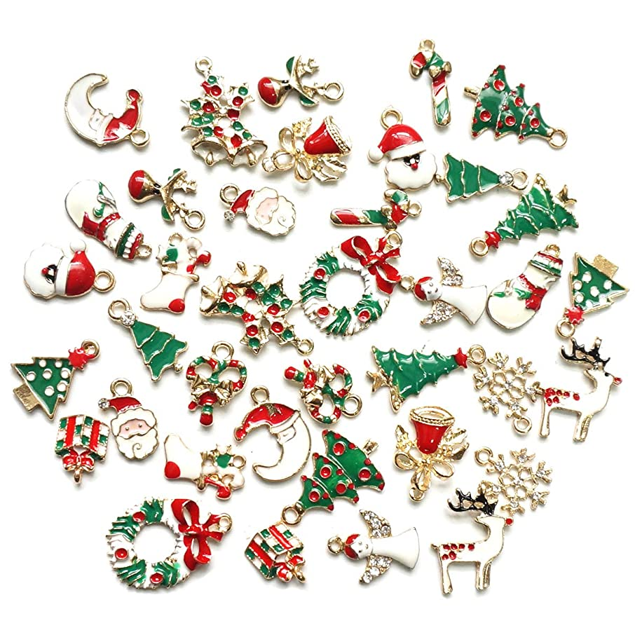 Misscrafts 38pcs Christmas Pendant Charms for DIY Necklace Bracelet Eardrop Jewelry Making 19 Pair
