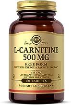 Solgar L-Carnitine 500 mg, 60 Tablets - Supports Energy & Fat Metabolism - Non-GMO, Vegan, Gluten Free, Dairy Free, Kosher...