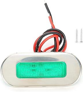 Marine Signal Light, Durable LED Indicator, Stainless Steel 12V for Ships(green)