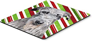 Caroline's Treasures Scottish Deerhound Candy Cane Christmas Mouse Pad/Hot Pad/Trivet (SC9802MP)