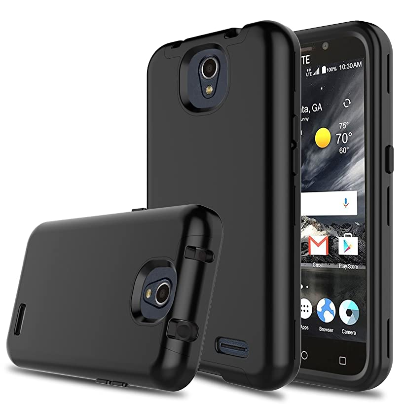 DONWELL Compatible ZTE Maven 3 Case Hybrid Three Layer Shockproof Protective Armor Cell Phone Case Cover Compatible ZTE Overture 3/ZTE Prestige 2/ZTE Z835/ZTE N9136