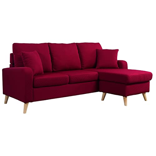 Red Sectional Sofa Amazon Com