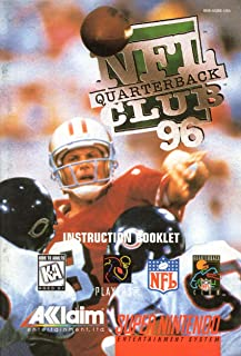NFL Quarterback Club 96 SNES Instruction Booklet (Super Nintendo Manual Only - NO GAME) [Pamphlet only - NO GAME INCLUDED] Nintendo