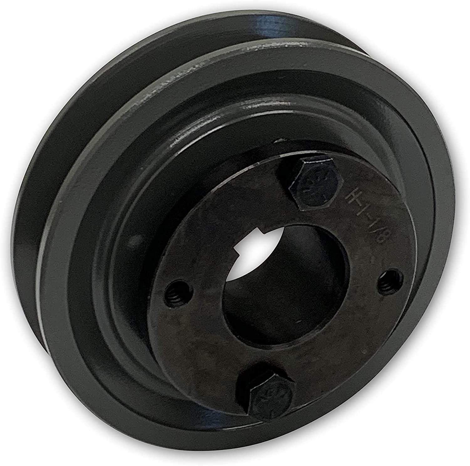 BUSHING INCLUDED 1 Groove Pulley Single Groove 3.15 Cast Iron Electric Motor H Pulley//Sheave For 5//8 Top Width B // 5L // BK // 5LK Section V Belt 0.75 Bore 3//4 Shaft