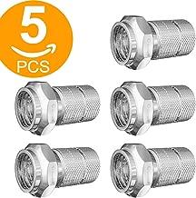 Ley Micro Tornillo/Twist on F Conectores para Antena de televisión de satélite coaxial Cable coaxial RG6(Pack de 5)