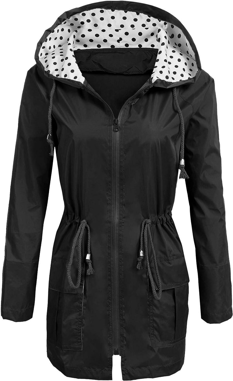 Soteer Rain Jacket Women's Waterproof outlet Raincoat Department store Li Hood with