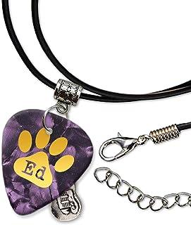 Ed Sheeran Púa de Guitarra Collar de la Cuerda Necklace Purple Pearl (GHF)